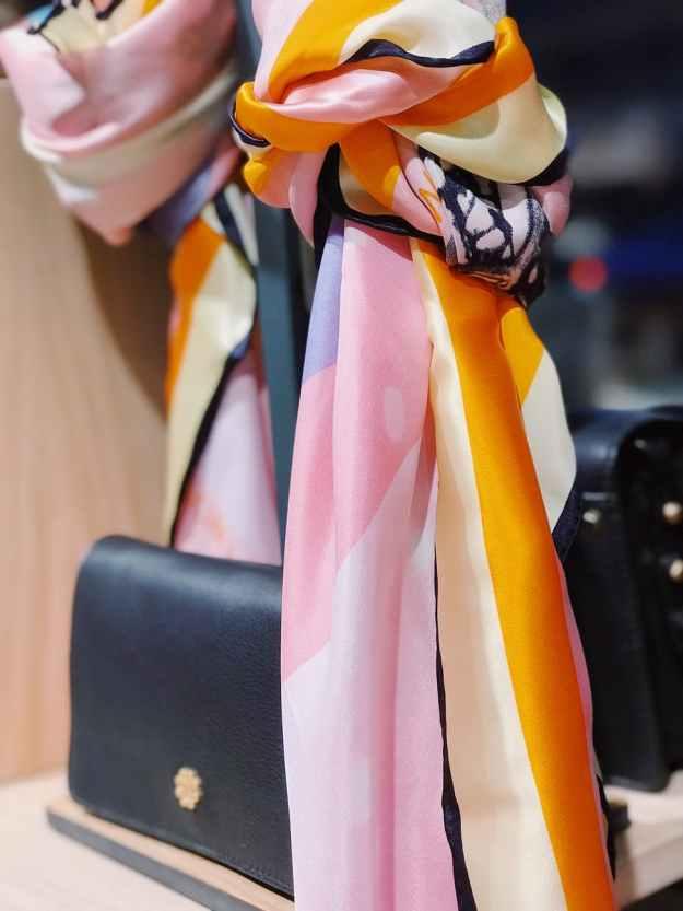 pink and orange textile