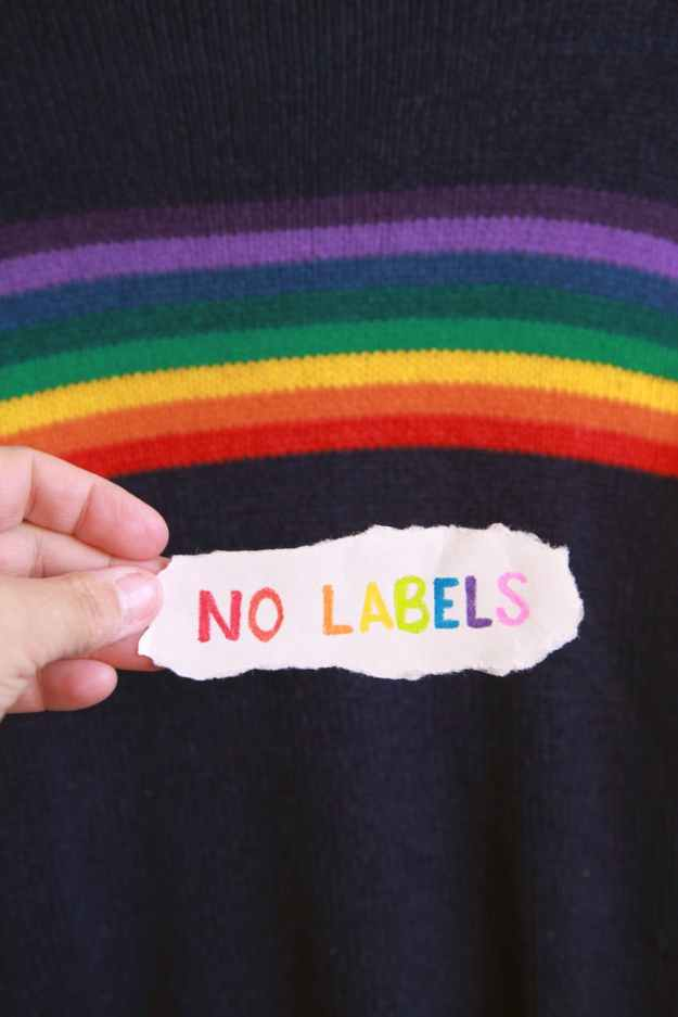 no labels written on a piece of paper